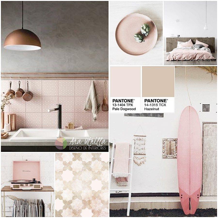 Decoración De Interiores En Color Avellana O Hazelnut Y Rosa Pale Dogwood Por Ana Utrilla