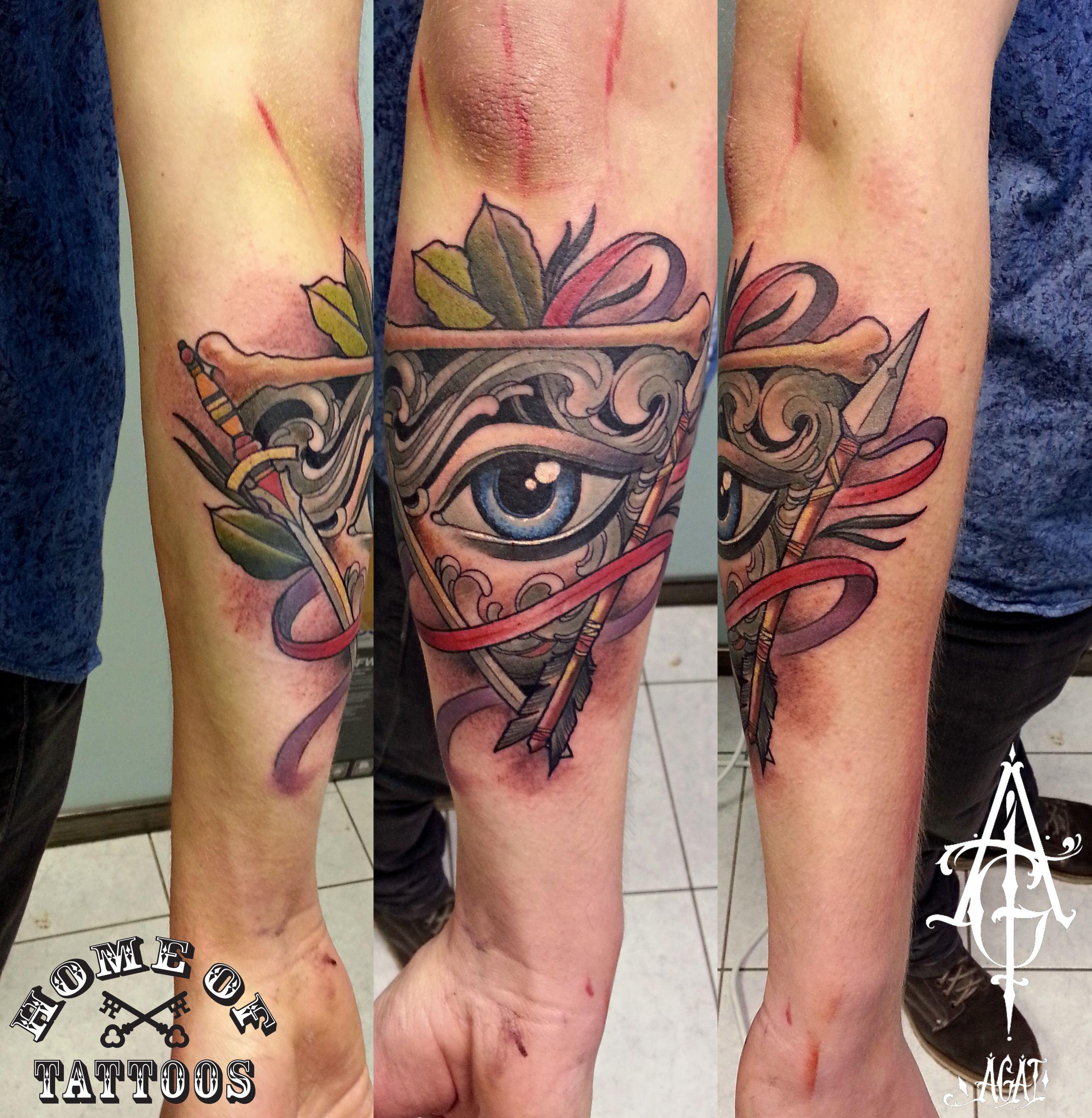 Illuminati Triangle Tattoo Custom work, do...
