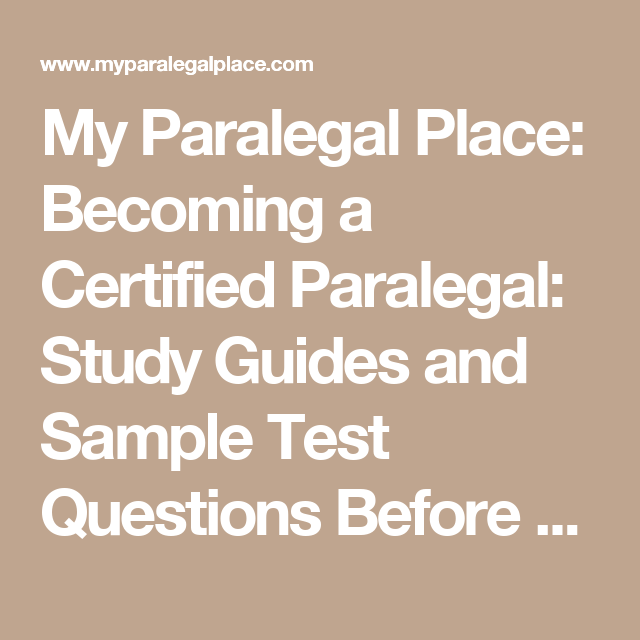 my paralegal place becoming a certified paralegal study guides and rh pinterest com SHRM Exam Study Guide Cicerone Exam Study Guide