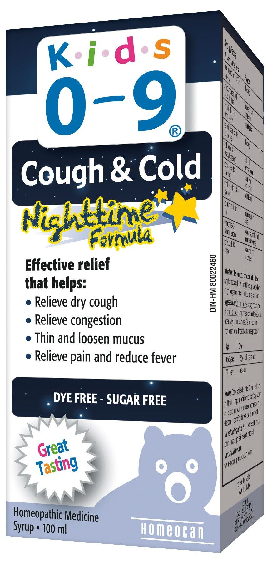 Kids 0 9 Cough Cold Nighttime Formula Syrup Great Tasting Homeopathic Medicine Helps Relieve Symptoms Associated W Dry Cough Cold Cough Nighttime Coughing