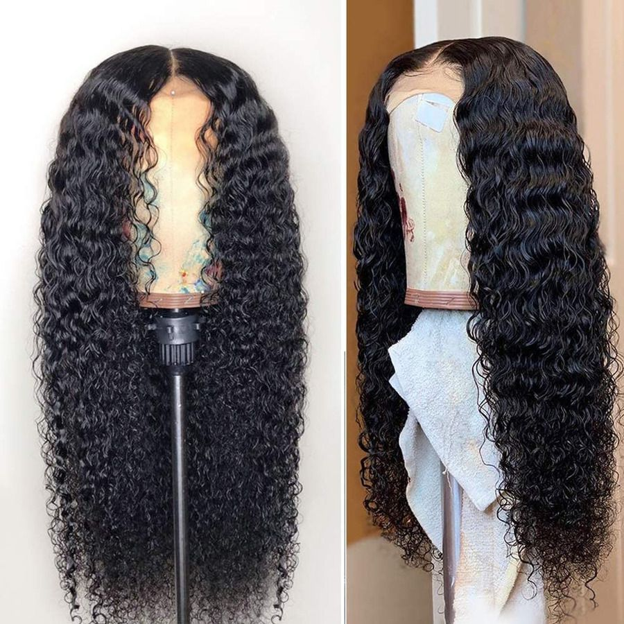 Fureya Long Loose Curl Lace Front Wigs for Women Glueless Heat Resistant Fiber #Ad , #AD, #Curl#Lace#Front