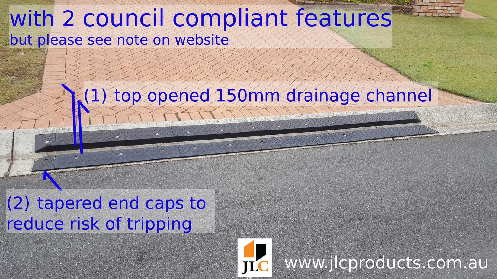 Driveway Kerb Or Curb Ramps Designed For Layback Kerbs Made From Recycled Rubber Goto Www Jlcproducts Com Au For A Driveway Ramp Rubber Ramp Curb Ramp