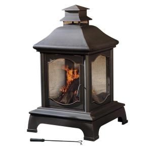Sunjoy Louise 48 In Chiminea L Cm057pst At The Home Depot With Images Outdoor Wood Burning Fireplace Patio Fireplace Outdoor Heating