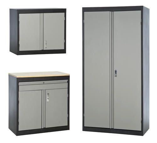 sandusky 3 in 1 storage cabinet set at menards work garage rh pinterest com Storage Cabinets at Menards Menards Storage Cabinets with Doors
