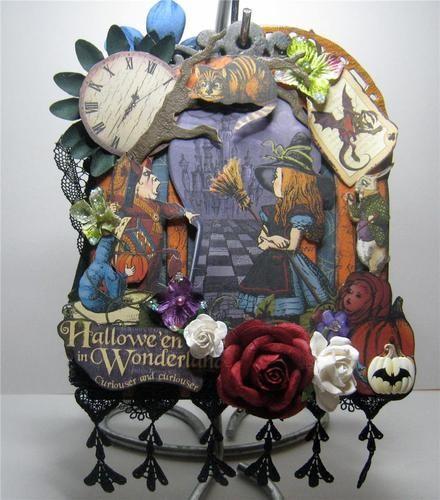 Graphic 45 Halloween in Wonderland Birdcage Chipboard Album