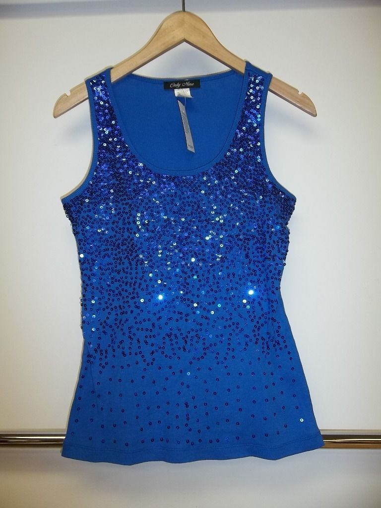 Royal Blue sequined tank now available @steinmart stores! #plussize