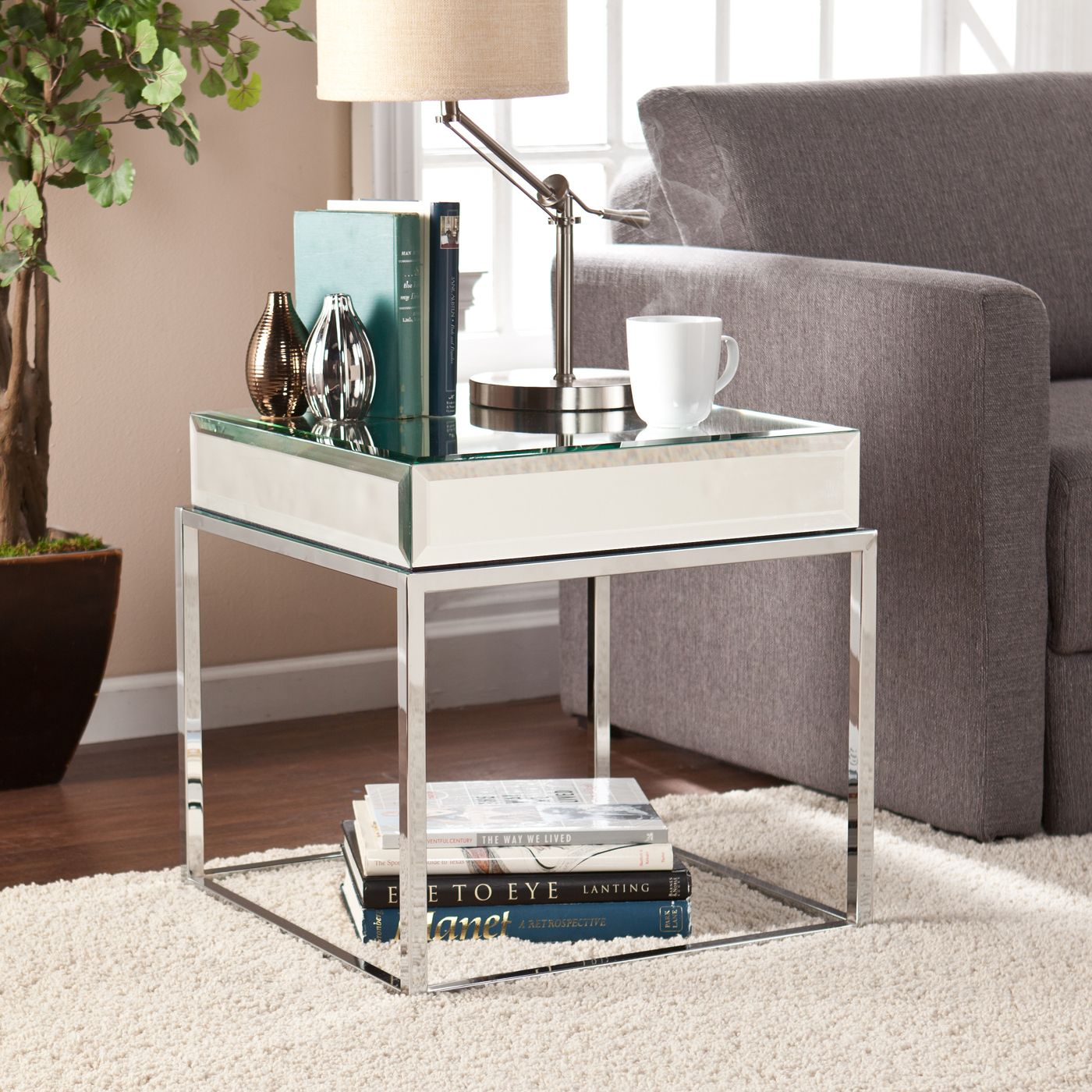 Shop Boston Loft Furnishings ATG2729 Corina Mirrored End Table at