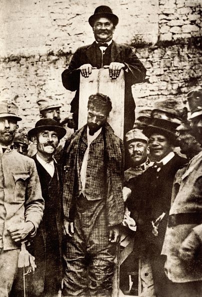 Cesare Battisti Italian journalist during World War I was captured by Austria and executed in 1916   Located in Rykoff Collection