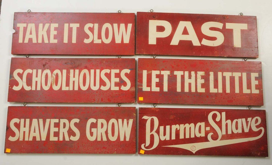 Burma-Shave Installment Signs a sign of the times Pinterest