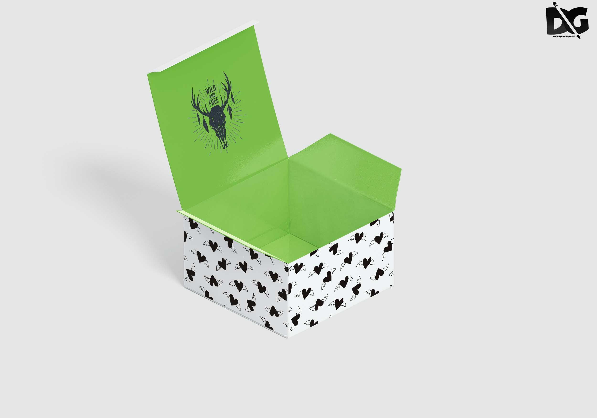 Download Free Open Box Square Design Psd Mockups Free Logo Mockup Logo Design Mockup Mockup Psd