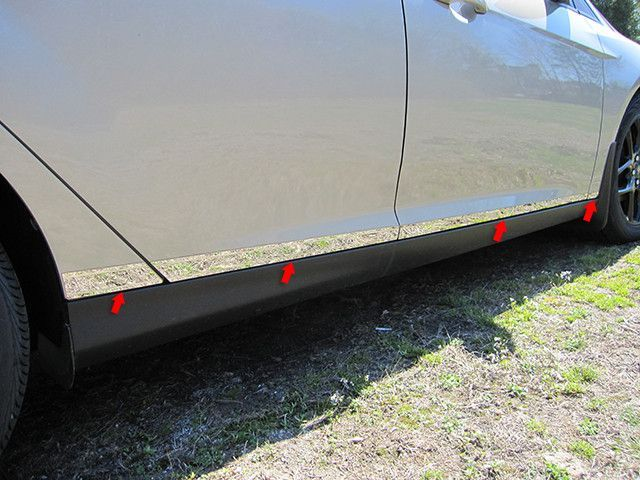 """FOCUS 2015-2016 FORD (8 pieces: Body Molding or Rocker Panel Accent Trim kit: 0.875"""" - 1. 75"""" TAPERED WIDTH, *LOWER KIT: SPANS FROM THE BOTTOM OF THE DOOR UP TO THE SPECIFIED WIDTH.) TH55345"""