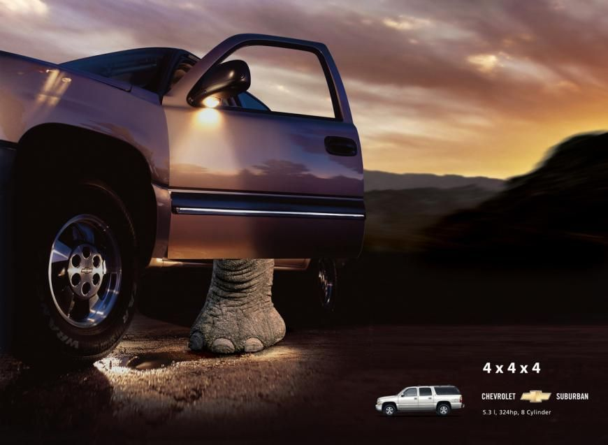 Chevrolet Suburban Elephant Kuwait Car Advertising Car Ads