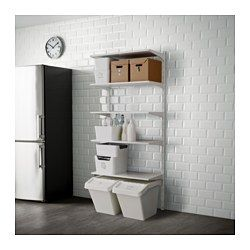 Algot アルゴート 壁用支柱 棚板 ホワイト 棚 壁 キッチンアイデア