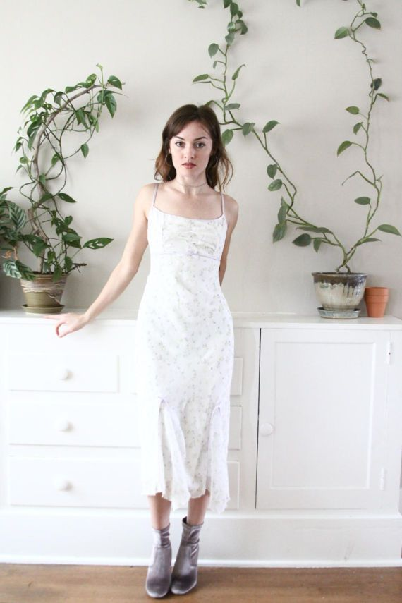 90s floral maxi dress - soft grunge prom dress - spring sundress ...