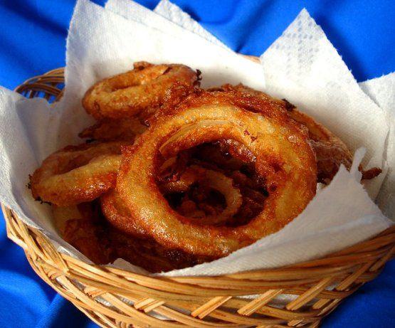 Buttermilk Batter Fried Onion Rings Recipe Food Com Onion Rings Recipe Onion Rings Recipes