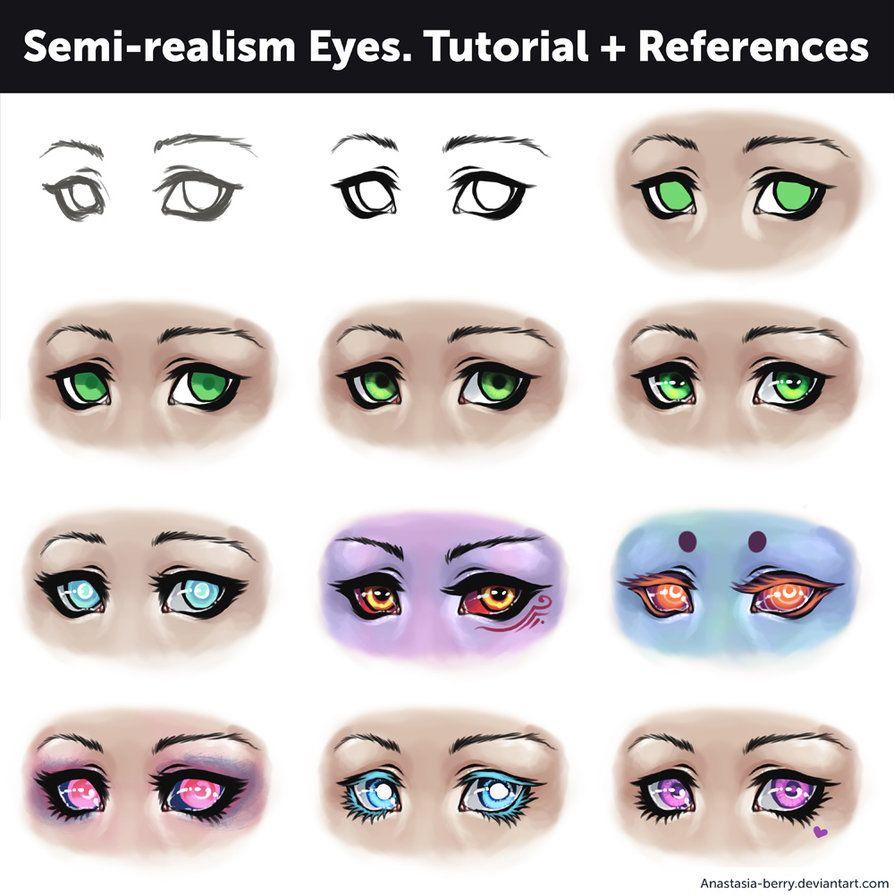 Semi Realism Eyes Tutorial References By Anastasia Berry Eyes