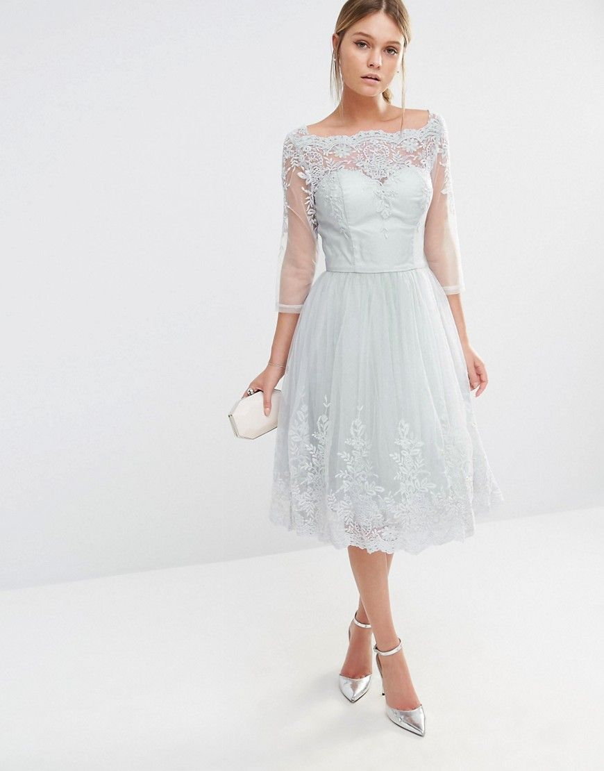 Image 1 of chi chi london midi tulle dress in premium lace shop chi chi london midi tulle dress in premium lace embroidery at asos ombrellifo Image collections