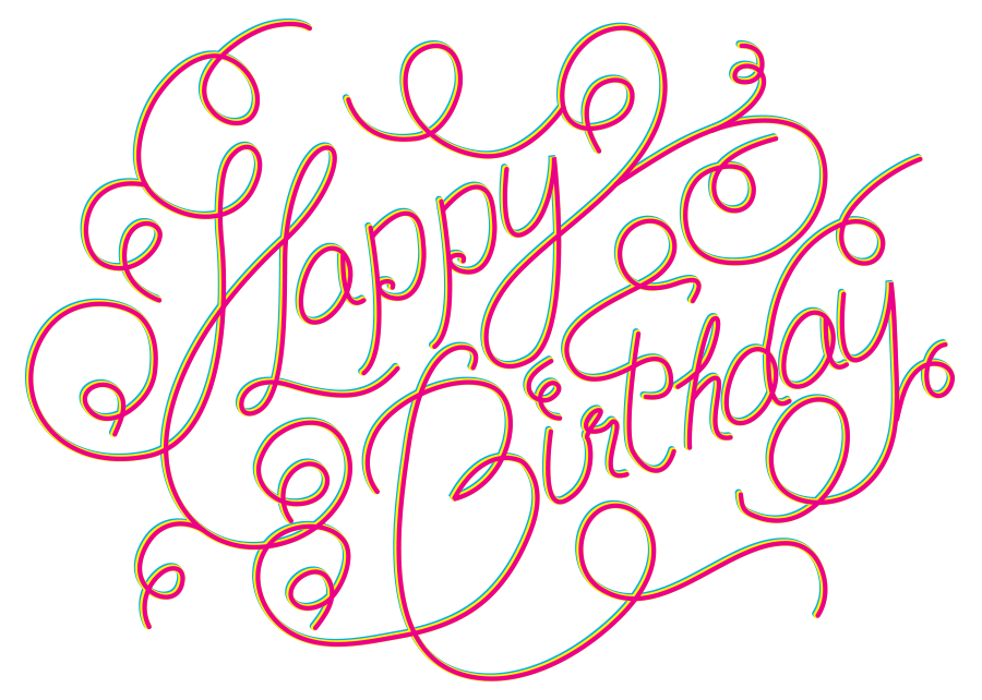 Happy Birthday Typography Png ~ Happy birthday wishes in different fonts type design and typography