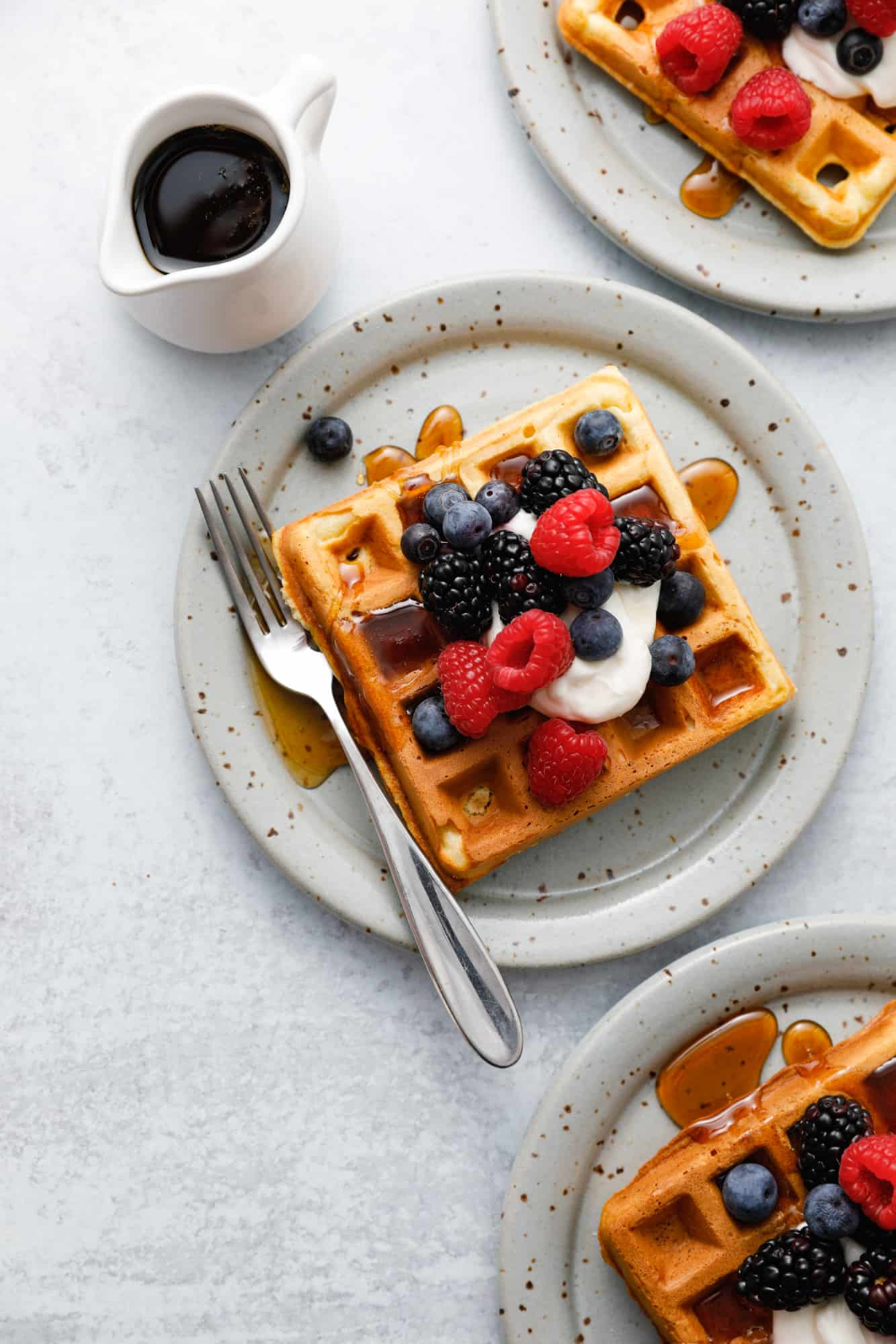 Fluffy Sour Cream Waffles The Dinner Bell Recipe In 2020 Easy Homemade Waffle Homemade Waffle Recipe Easy Waffles Recipe Homemade