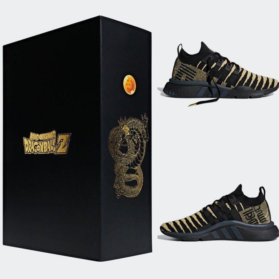 super popular e3aeb c438a eBay Sponsored Adidas Final Dragon Ball Z EQT Support ADT PK Golden Super  Shenron DB2933