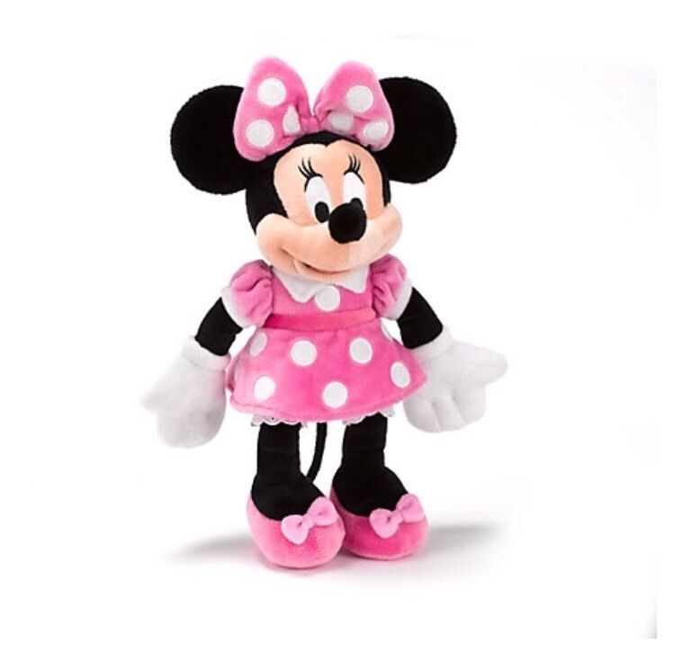 Minnie Mouse Soft Toy Pink Small Kids Toddler Plush Children Gift Girls***BNWT
