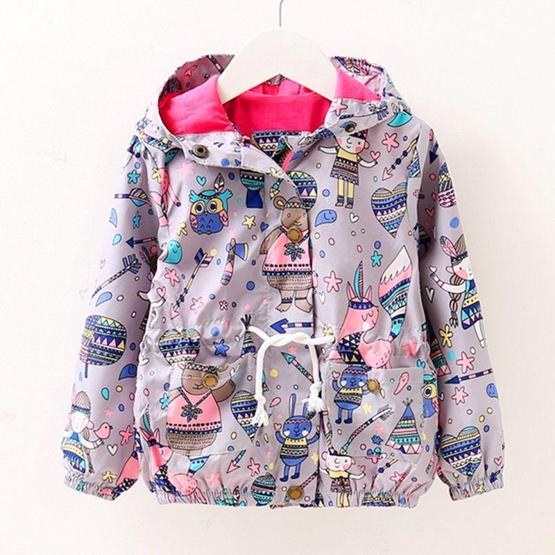 a92134c6d0c2 Toddler Baby girls jackets hooded outerwear kids spring summer ...