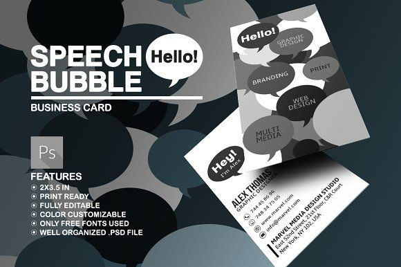 creative speech bubble business card templatebusiness card templates canva - Canva Business Card