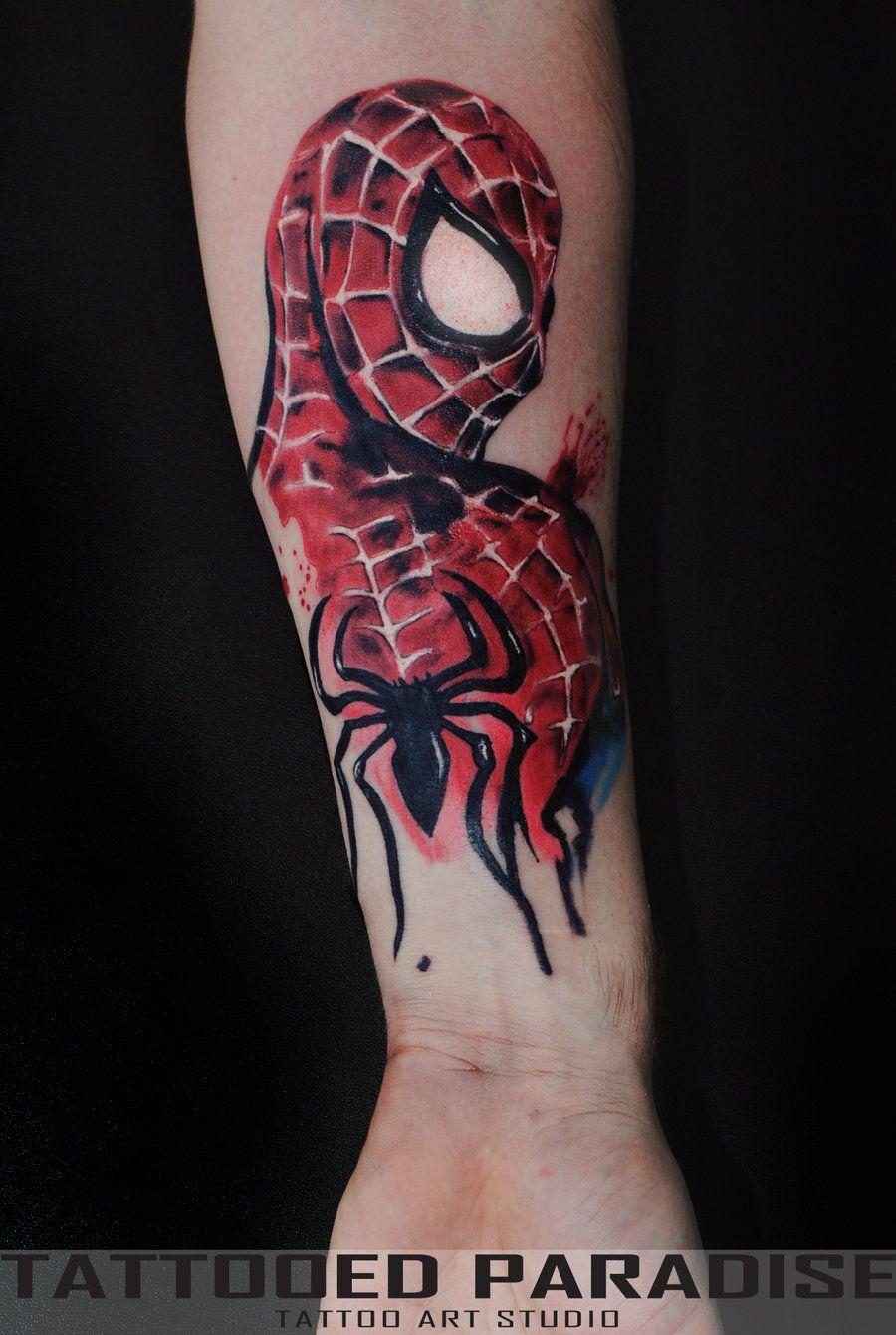 a07aa3cfc Awesome Spiderman tattoo | Tattoos | Spiderman tattoo, Marvel ...