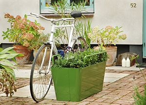 Plantlock   Calgary Is Experiencing A Lot Of Bike Thefts This Month, Which  Has Made Me Look For Cool Locking Ideas. This Planter Weighs When Full    Could ...