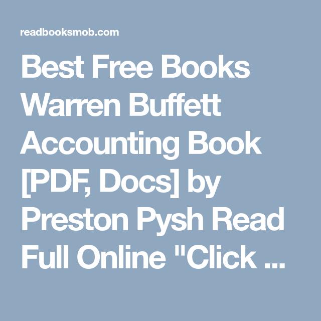 Best free books warren buffett accounting book pdf docs by best free books warren buffett accounting book pdf docs by preston pysh read fandeluxe Choice Image