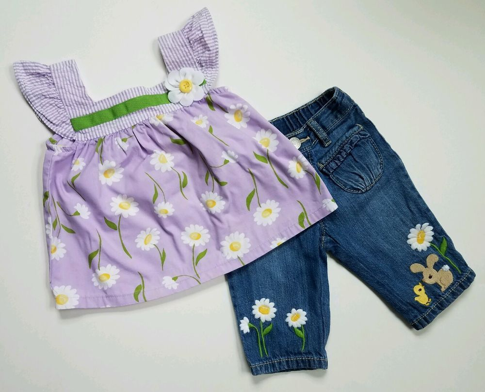 Gumboree daffodil garden size months baby girls swing top