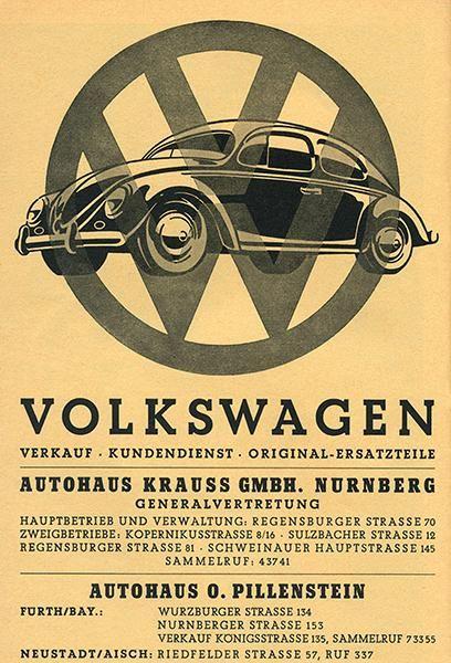large 4 sizes available Vintage Volkswagen Automotive print poster