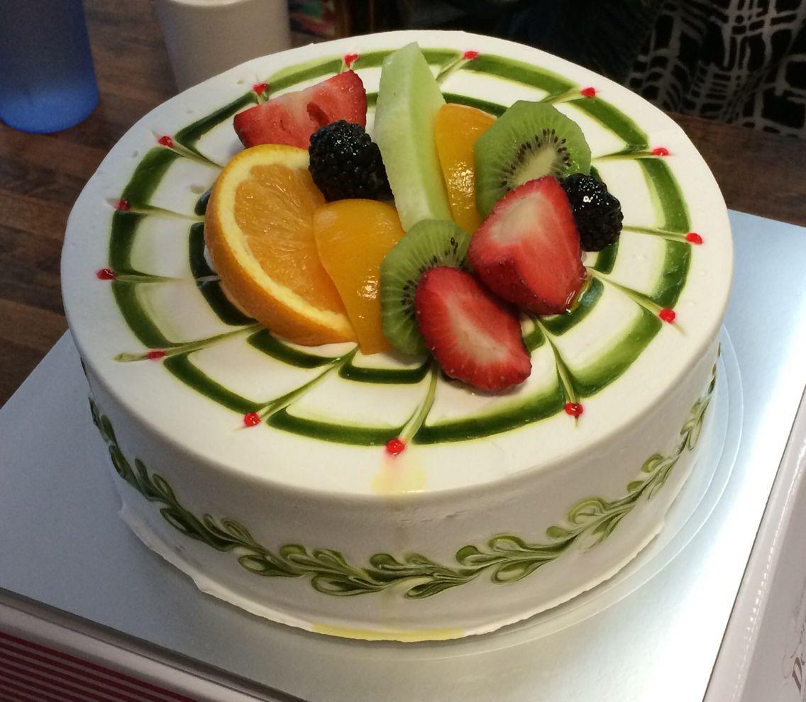 Green Tea Korean Fruit Cake | Cake, Fruit cake, Desserts
