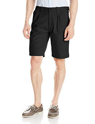 Lee Men S Comfort Waist Pleated Short Mens White Shorts Pleated