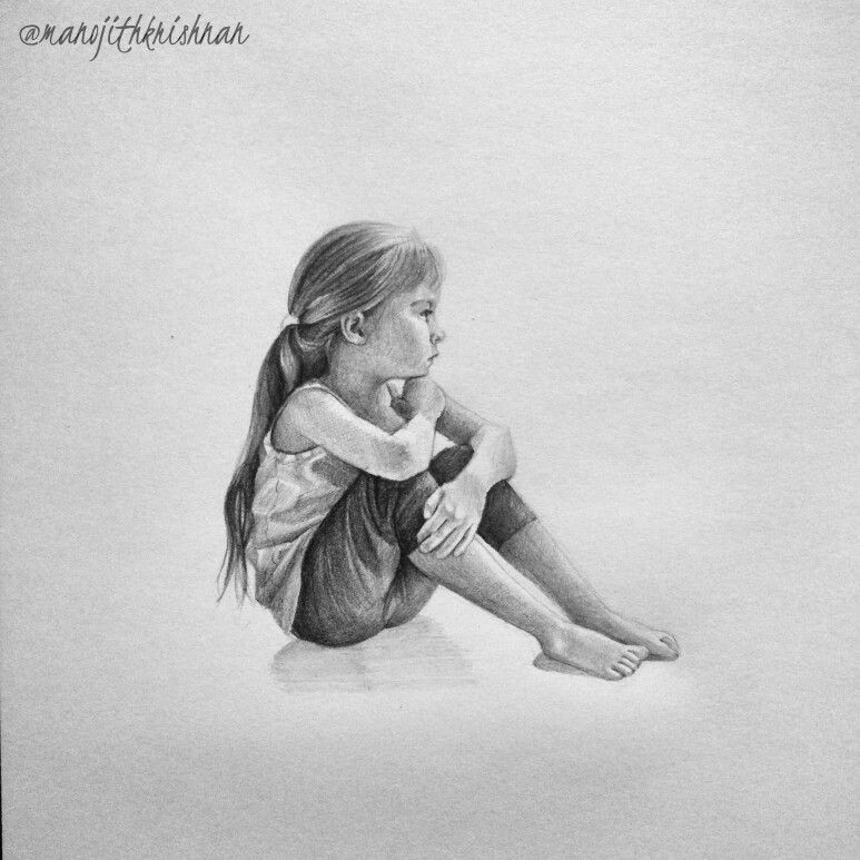 Alone Pencil Sketch