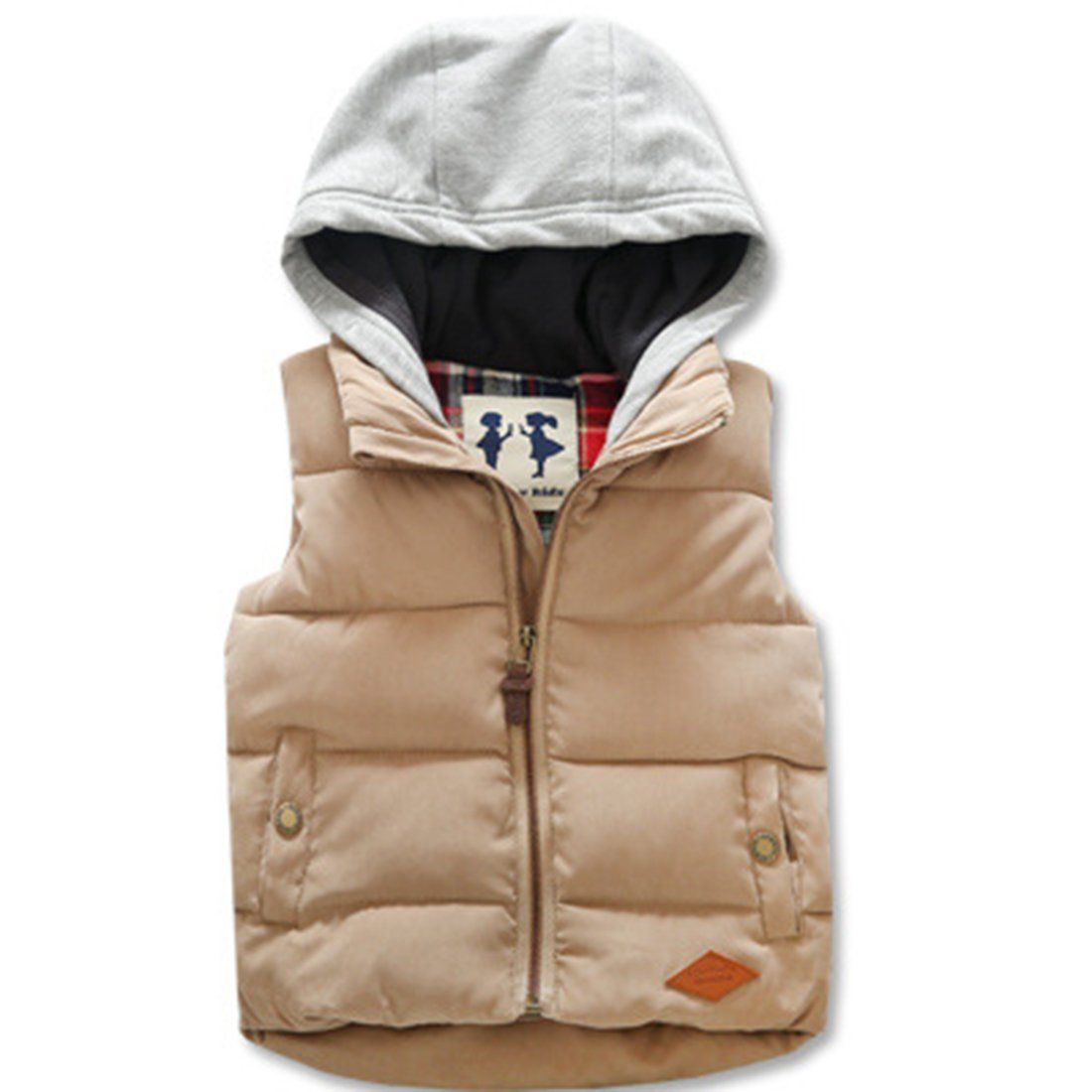 Hiheart Boys Girls Winter Down Vest Sleeveless Jackets