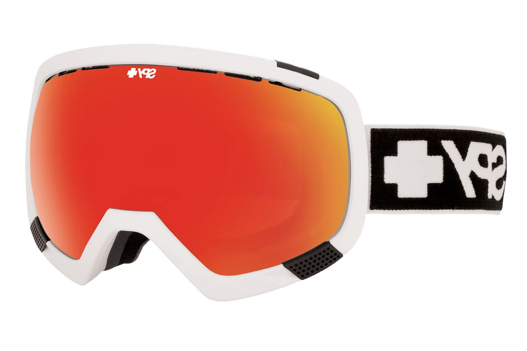 Spy - Platoon Matte White Goggles, Bronze W/ Red Spectra + Blue Contact Lenses