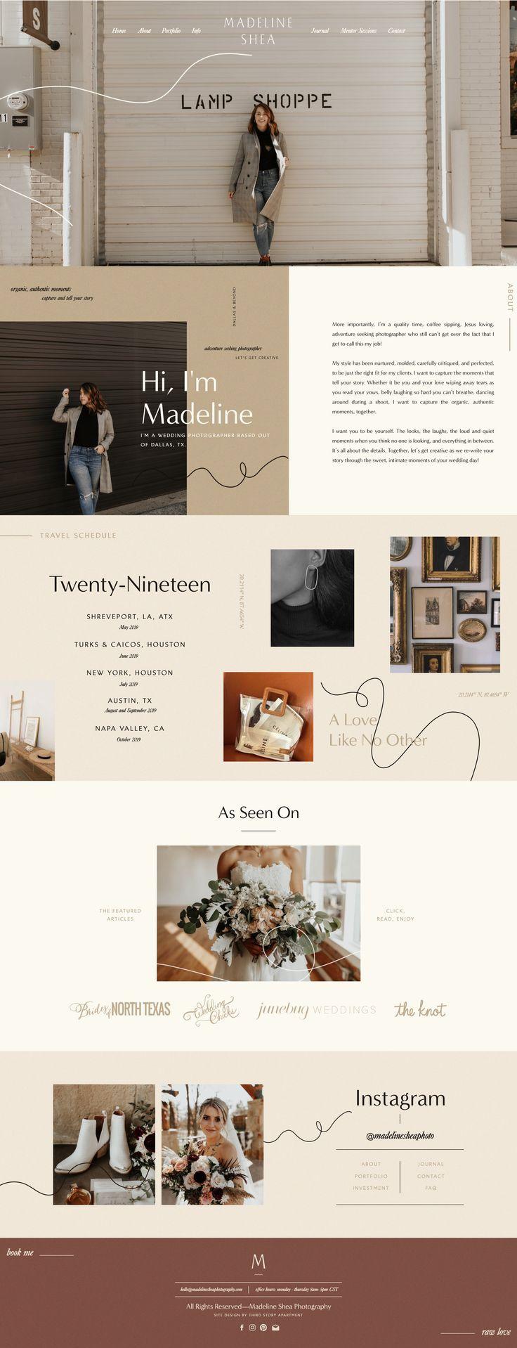 Website Design By Lindsey Eryn Of Third Story Apartment Ig Lindseyeryn Thirdstoryapt Portfolio Website Design Website Design Layout Modern Website Design