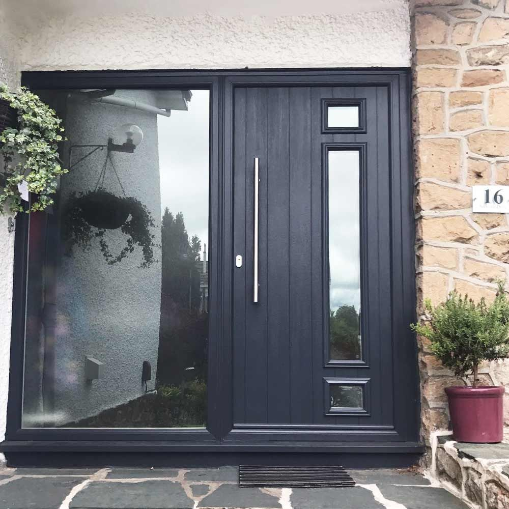 Contemporary And Striking A Cr Smith Anthracite Grey Door Will Add A Stylish And Sophisticated Look To Your Hom French Doors Patio Front Door Grey Front Doors