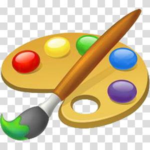 Paint Palette And Brush Painting Palette Art Paint Brush Transparent Background Png Clipart Palette Art Paint Palette Clip Art