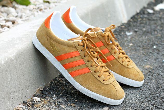 mens adidas orange gazelle og trainers