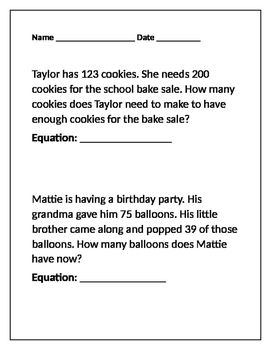 This handout includes a mixture of both addition and subtraction ...