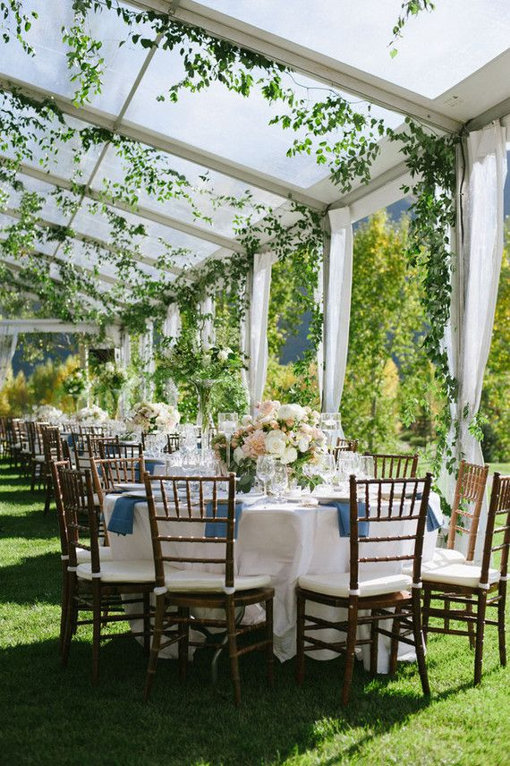 Spring Aspen wedding - gorgeous marquee with foliage all ...