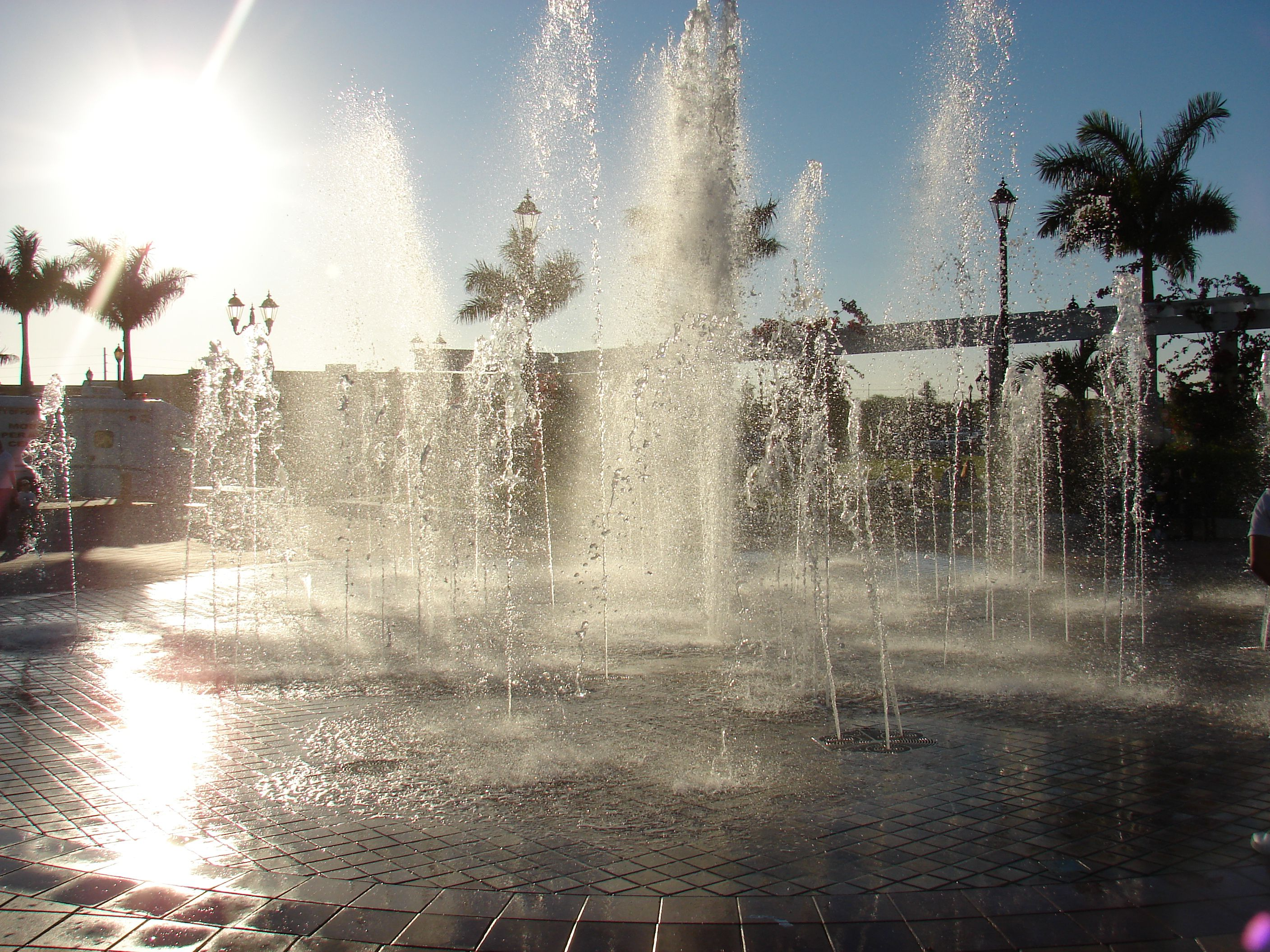 The Port St. Lucie Civic Center interactive fountain is a beautiful ...