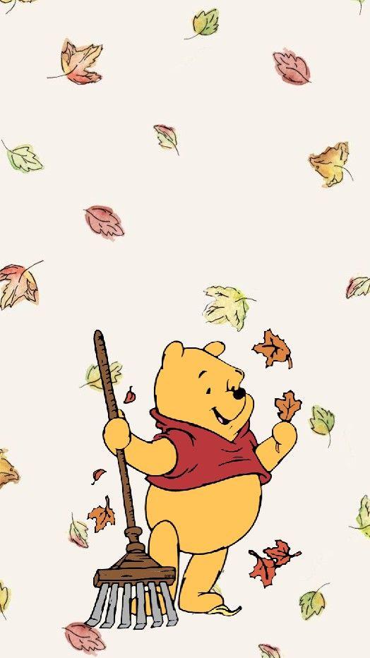 Fall Winnie the pooh disney lock screen wallpaper Cute