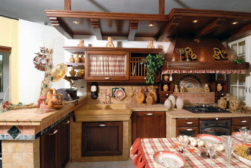 Cucine rustiche cerca con google cucine pinterest - Cucine in muratura stile moderno ...