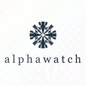 Exclusive Customizable Floral Mark Shape Logo For Sale: alphawatch | StockLogos.com