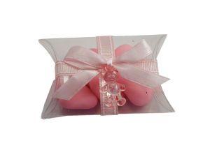 Carinissimo portaconfetti un bellissimo fiocco ed un orsetto rosa!!