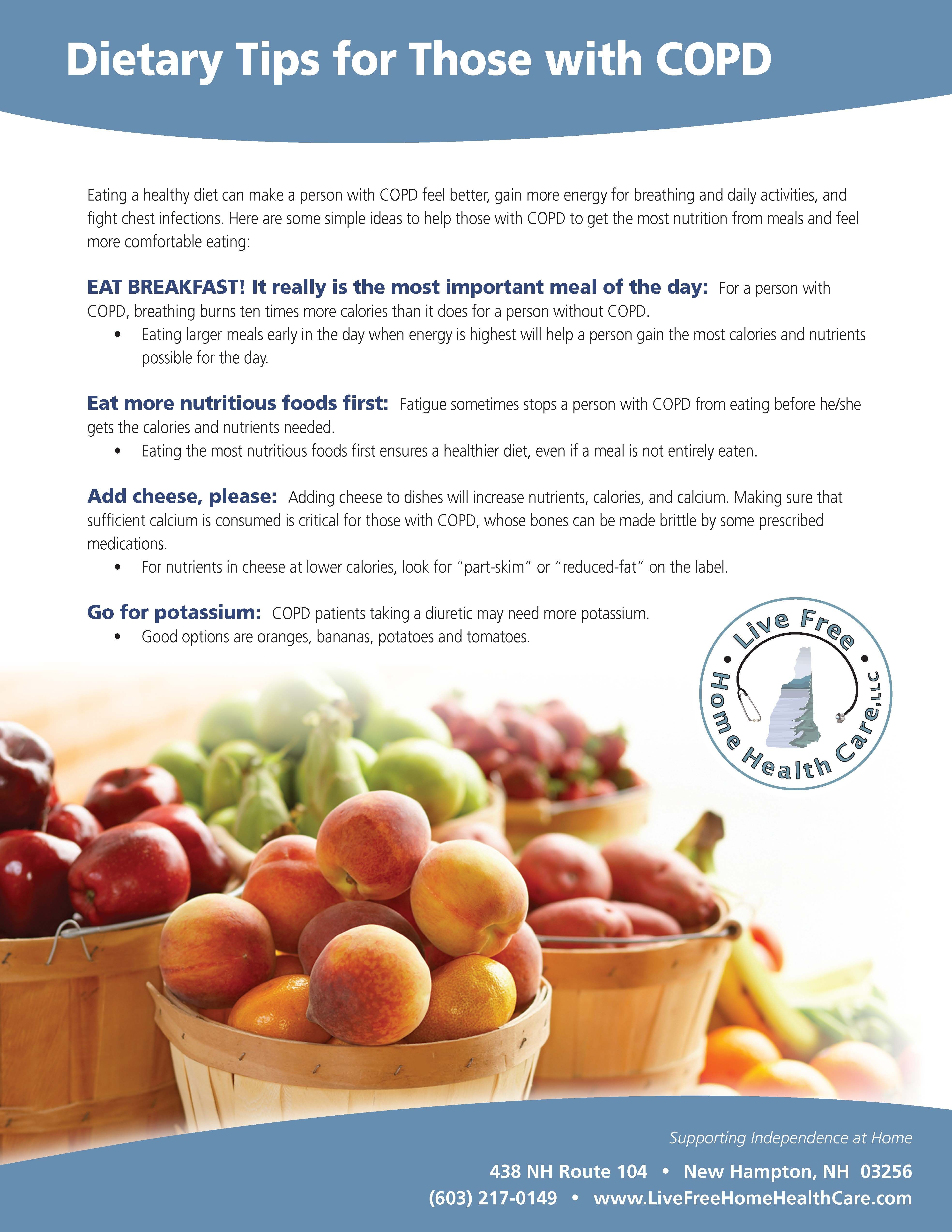 Dietary Tips for Those with COPD #COPD #caregiving | ~COPD
