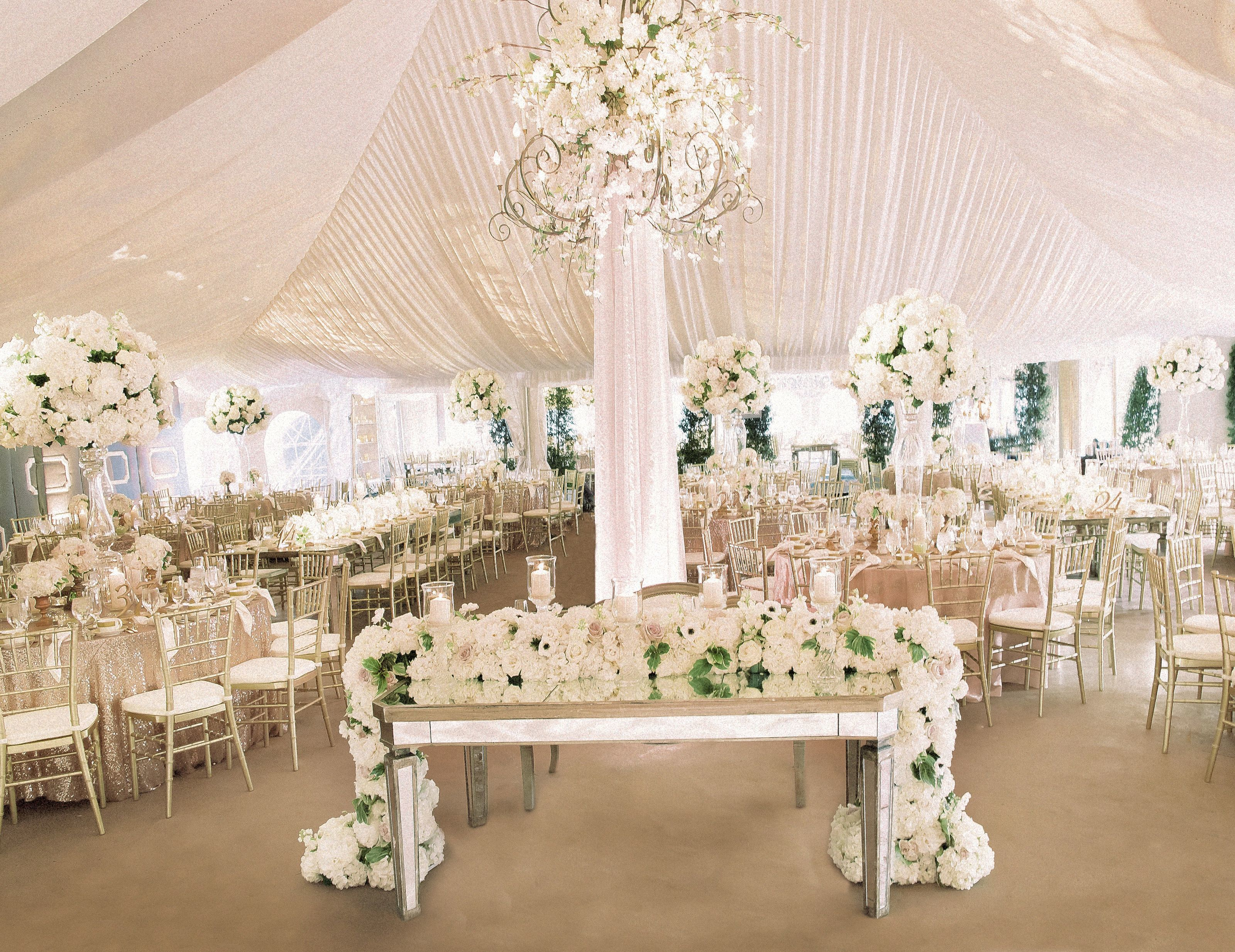 Photography: http://www.blainesiesser.com/ | Event design: http://kehoedesigns.com/ | Event coordination: http://partyassurance.com/ | Floral design: http://kehoedesigns.com/ | Wedding dress: http://www.eliesaab.com/ | Tuxedo: http://sammichaels.com/ | Wedding venue: http://meadowbrookhall.org/ | Read More: https://www.stylemepretty.com/2016/09/14/timeless-elegant-all-white-midwest-wedding/